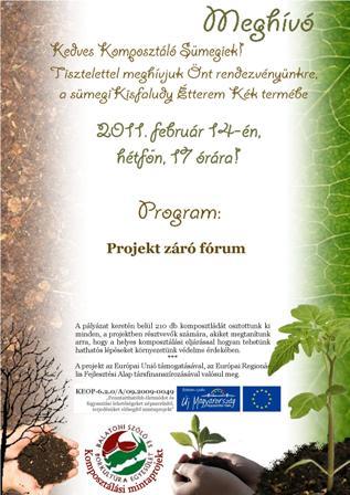 Komposzt záró fórum meghívó